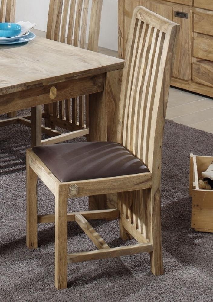 NATURE BROWN #802 Sheesham stolička, masívne palisandrové drevo