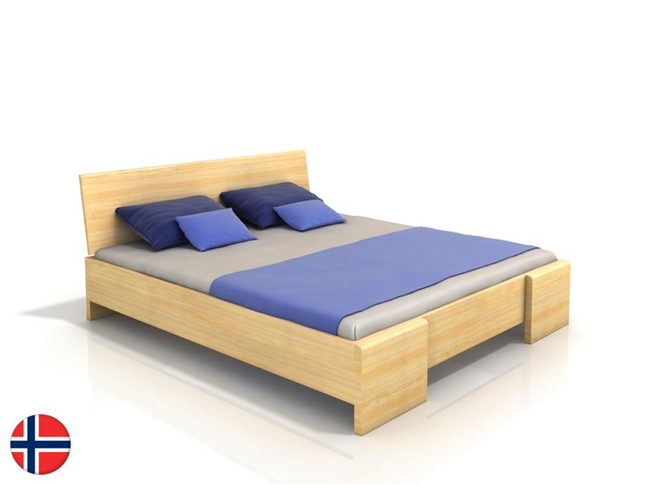 Manželská posteľ 200 cm Naturlig Blomst High (borovica) (s roštom)