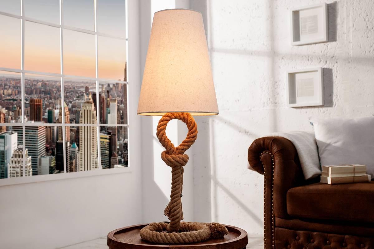 Stolná lampa SIVEN, 100 cm - béžová