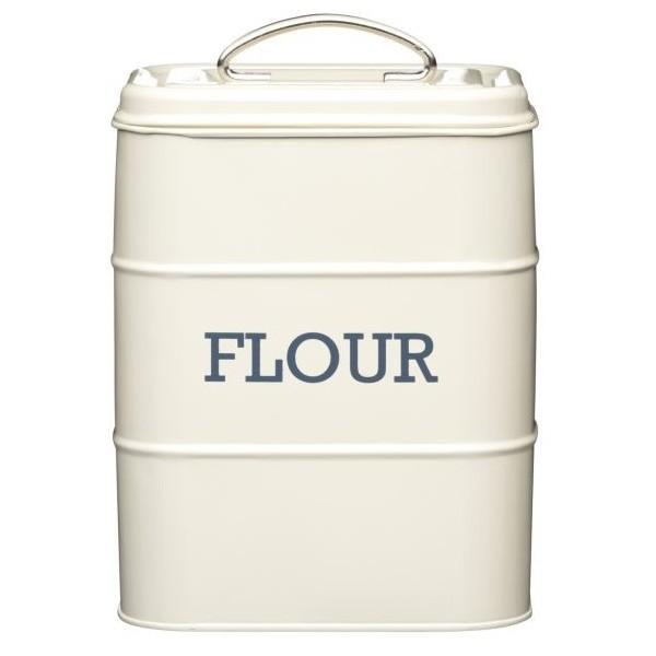 Krémová plechová dóza Kitchen Craft Flour