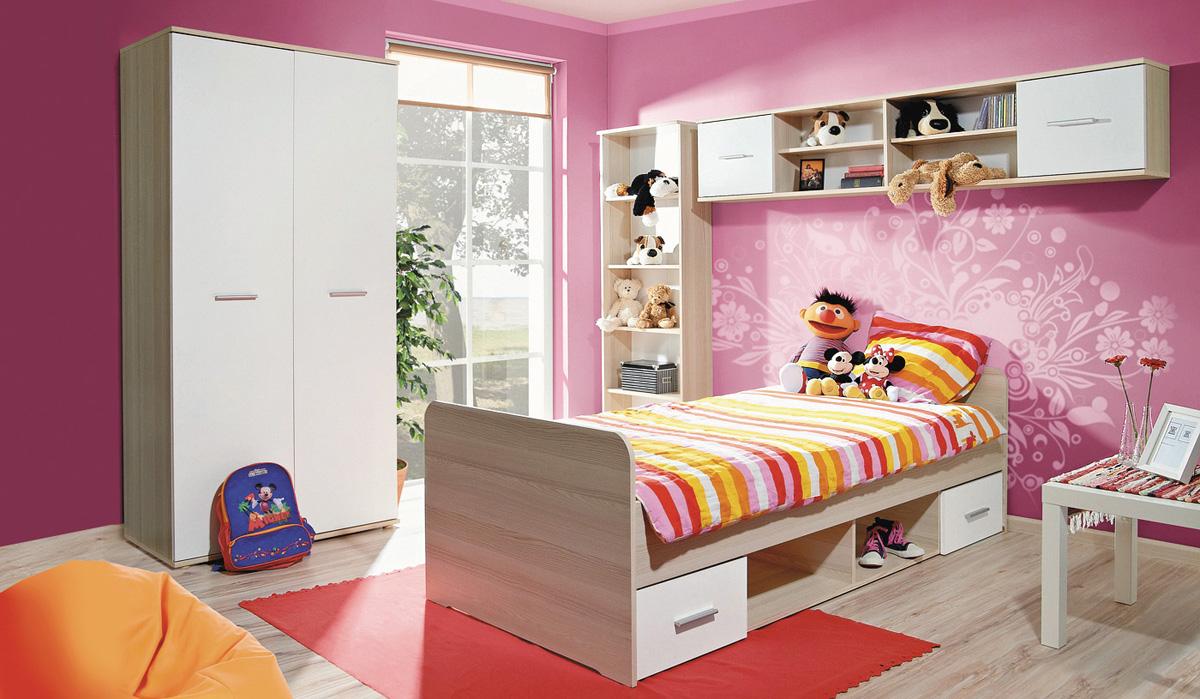 Detská izba DOMINO, javor/biela