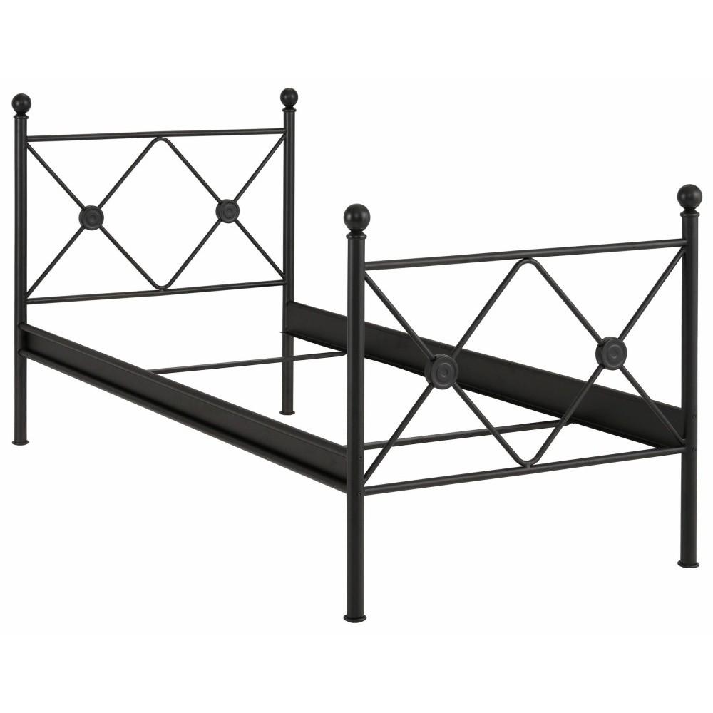 Čierna jednolôžková posteľ Støraa Johnson, 90×200cm