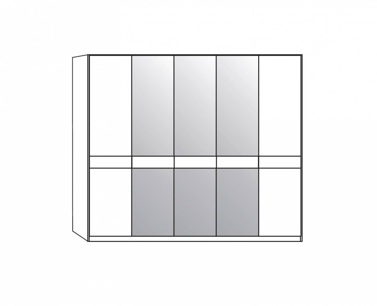 Päťdverová skriňa so zrkadlom IBIZA 421 595