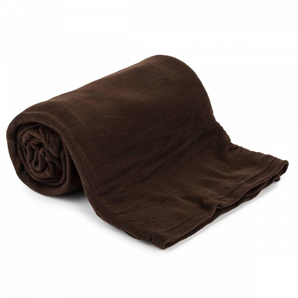 Jahu Fleecová deka UNI tmavohnedá, 150 x 200 cm