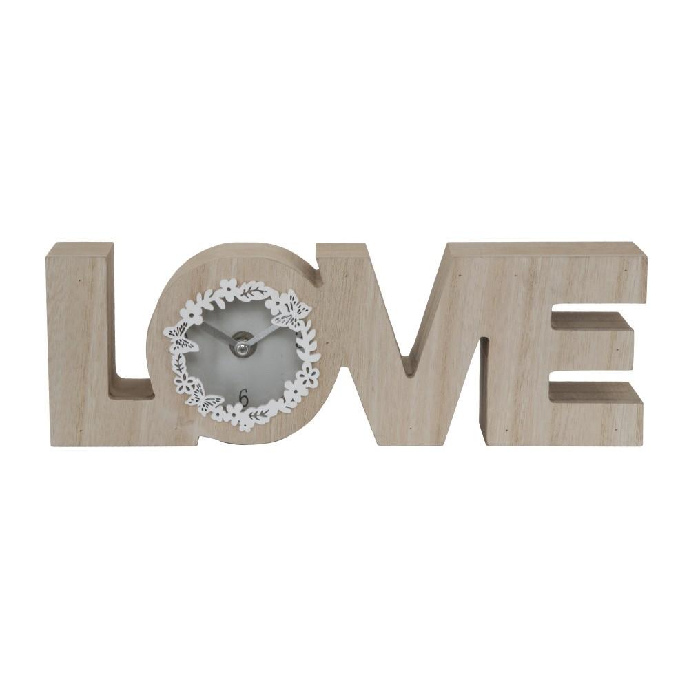 Stolové hodiny s dekoratívnym  rámom Mauro Ferretti love