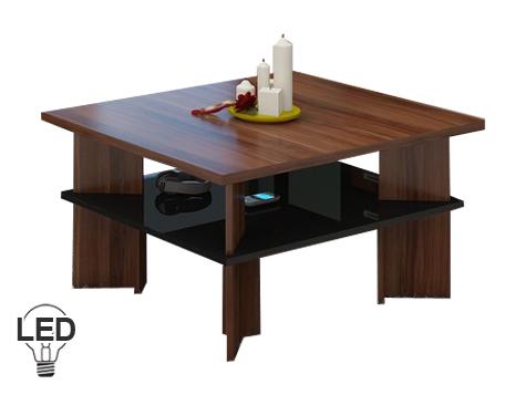 Konferenčný stolík Vectra 1 (slivka + lesk čierny)