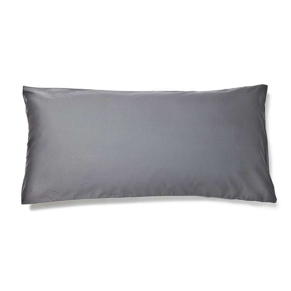Sivá obliečka na vankúš Casa Di Bassi Basic, 40×80 cm
