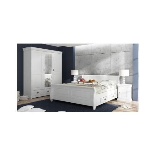 Biely nábytok Spálňa Toskania 3D, biela, borovica, masív,  TAHOMA