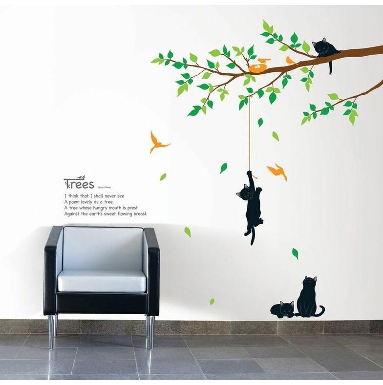 Samolepka Ambiance Tree And Cat