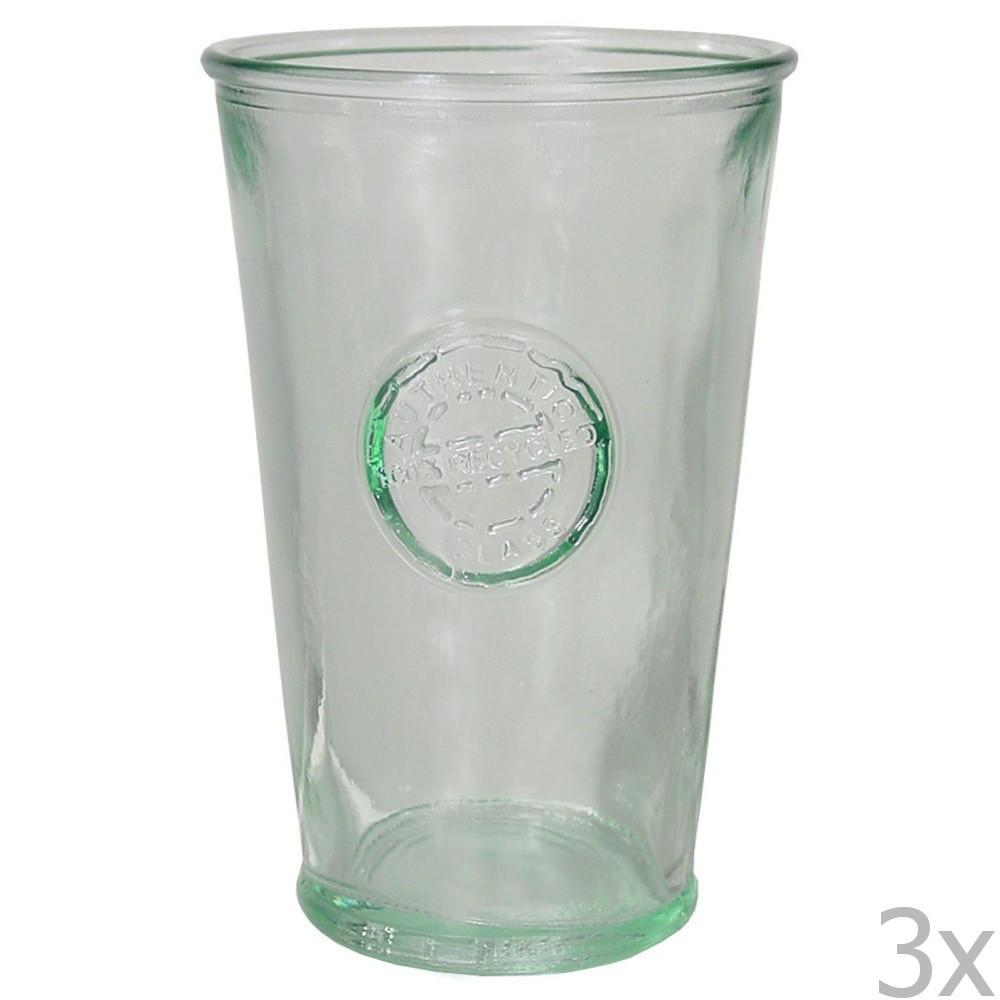 Sada 3 pohárov z recyklovaného skla EgoDekorAuthentic, 300 ml