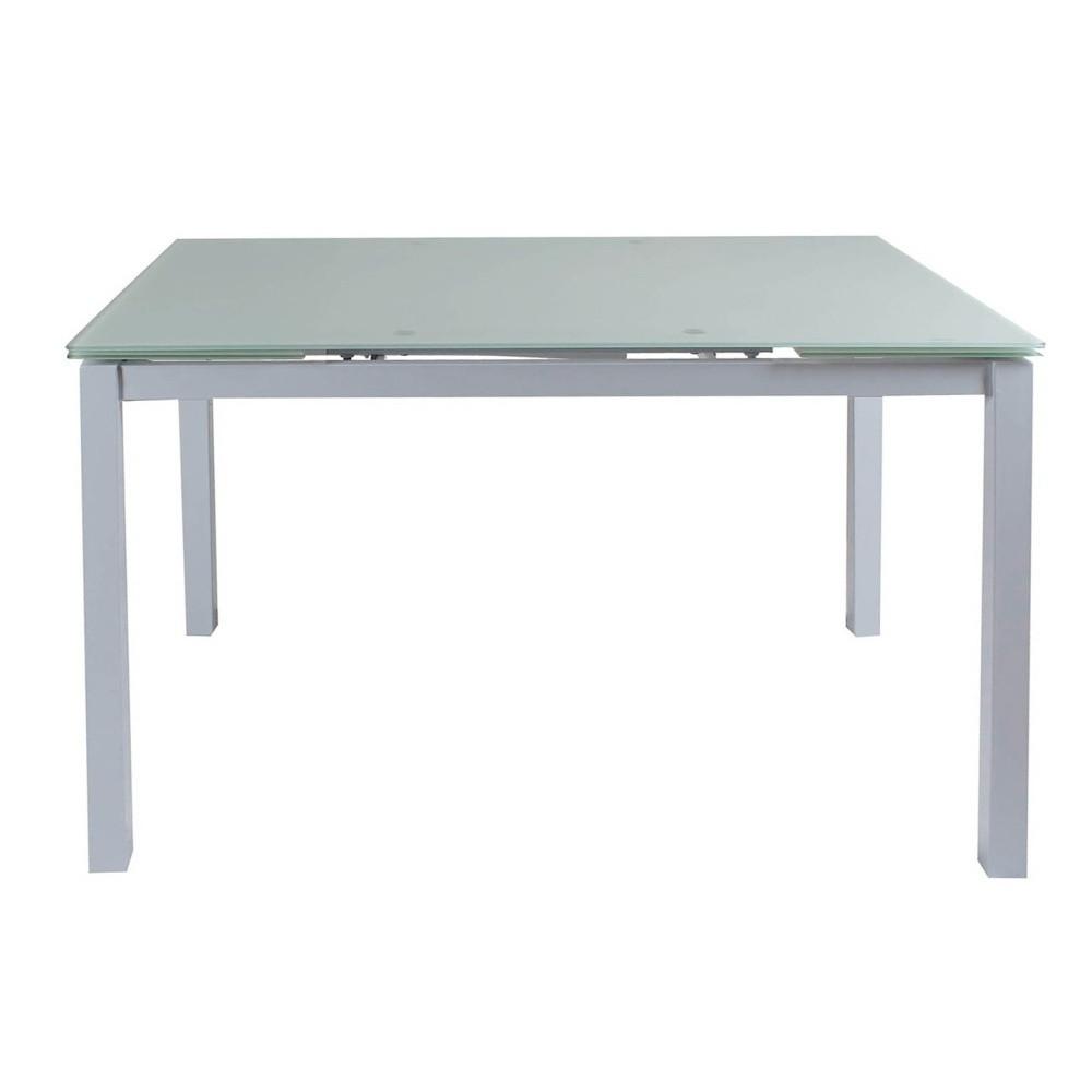 Sklenený rozkladací jedálenský stôl Esidra Joel