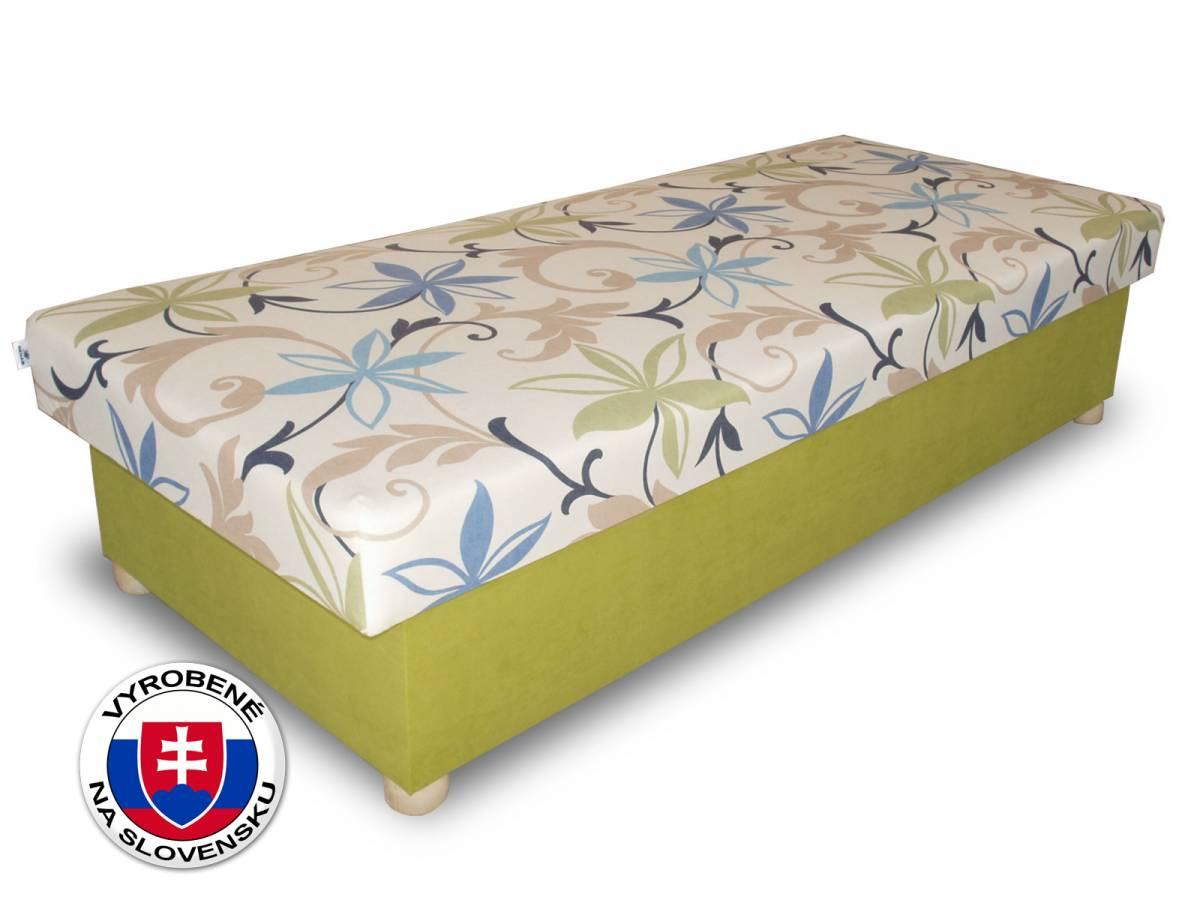 Jednolôžková posteľ (váľanda) 80 cm Benab Solo na masivných nožičkách (s matracom)
