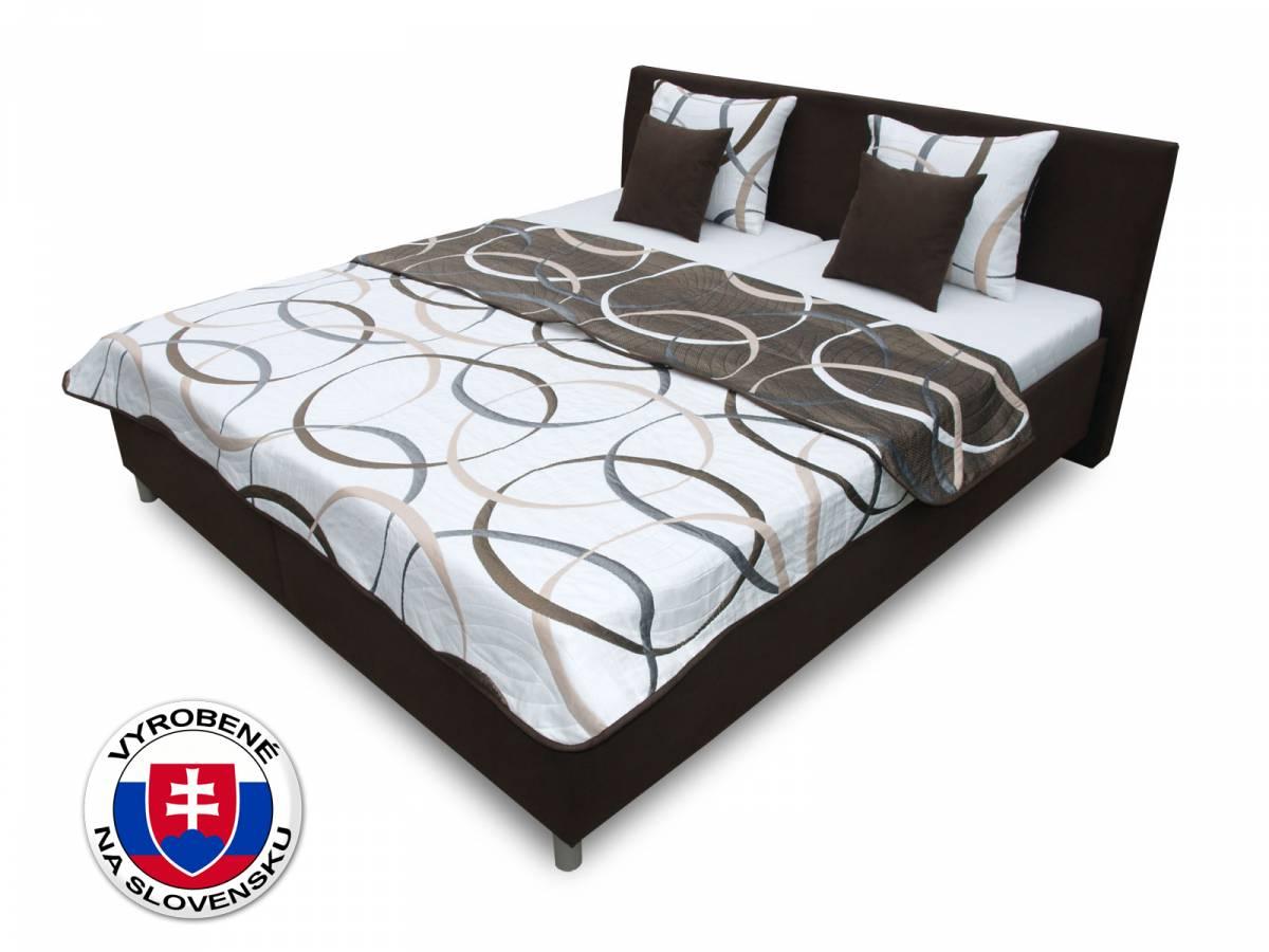 Manželská posteľ 180 cm Benab Montana (s roštami, matracmi Kokos a prehozom a vankúšmi)