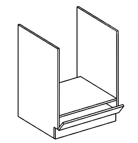 DK60 skrinka na vstavanú rúru MOREEN, akryl/šedý lesk