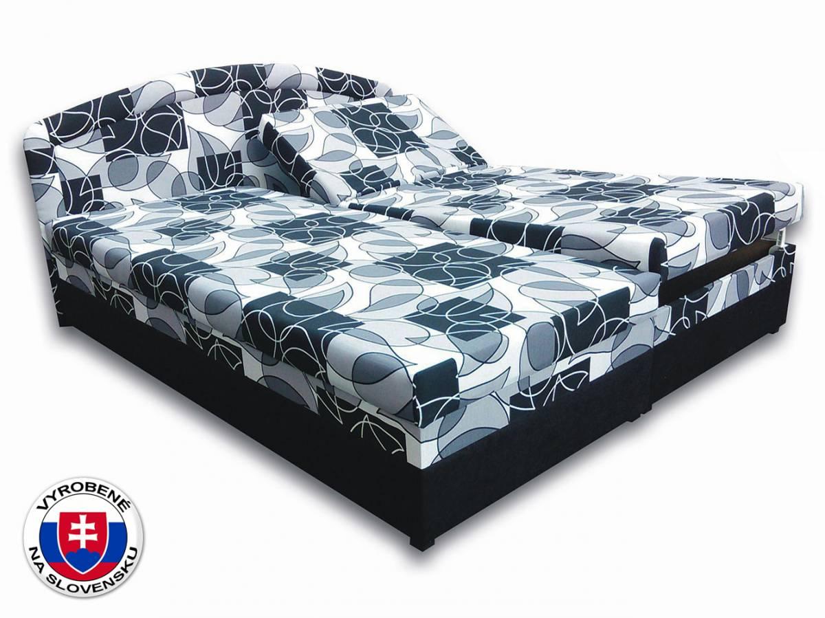 Manželská posteľ 160 cm Vanesa (s penovými matracmi)