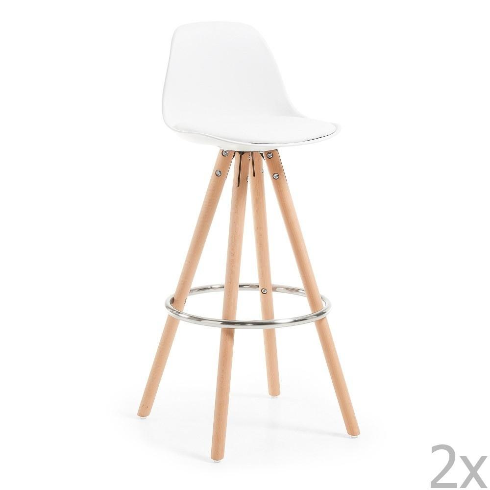 Sada 2 bielych barových stoličiek La Forma Stag
