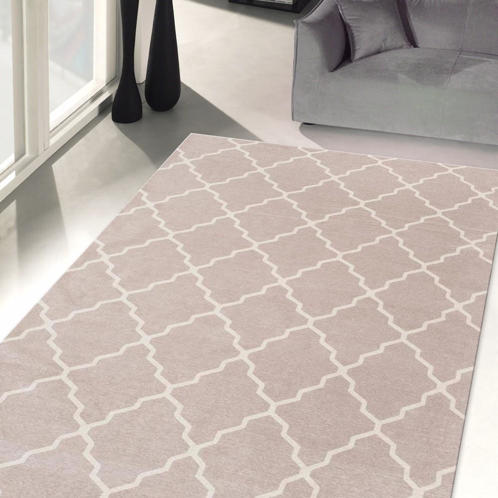 Vysokoodolný kuchynský koberec Webtapetti Lattice Sand, 80 x 130 cm