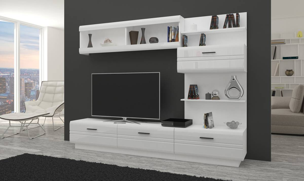 Biela obývacia stena AKSEL