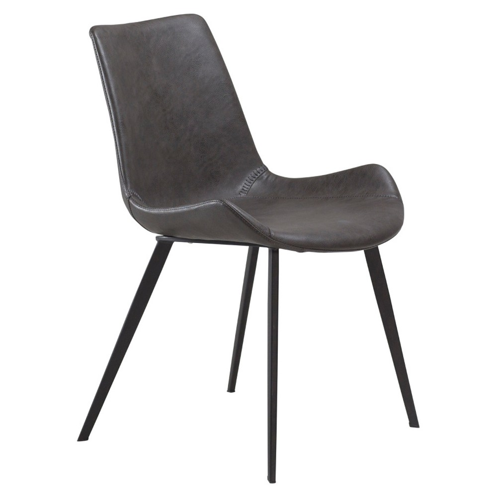 Sivá jedálenská stolička DAN–FORM Hype Faux