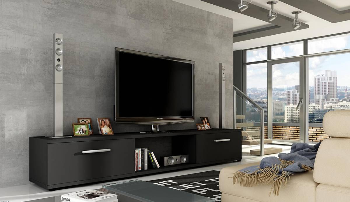 MALTEZ TV stolík čierny