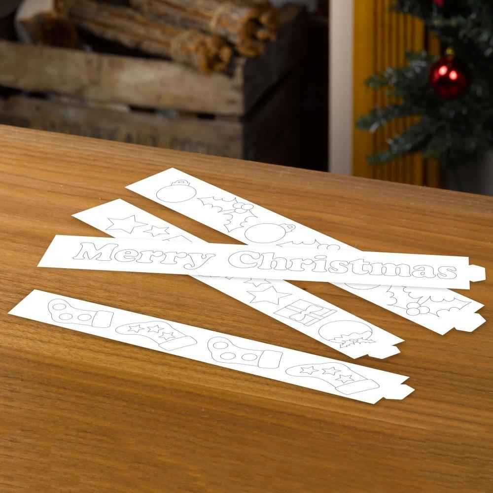 Sada 50 papierových prúžkov na tvorbu vianočnej retaze Neviti Christmas Craft