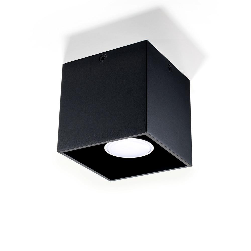 Čierne stropné svetlo Nice Lamps Geo 1