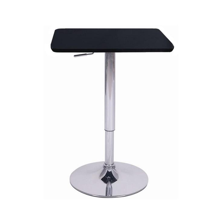TEMPO KONDELA Barový stôl s nastaviteľnou výškou, čierna, 86-105, FLORIAN