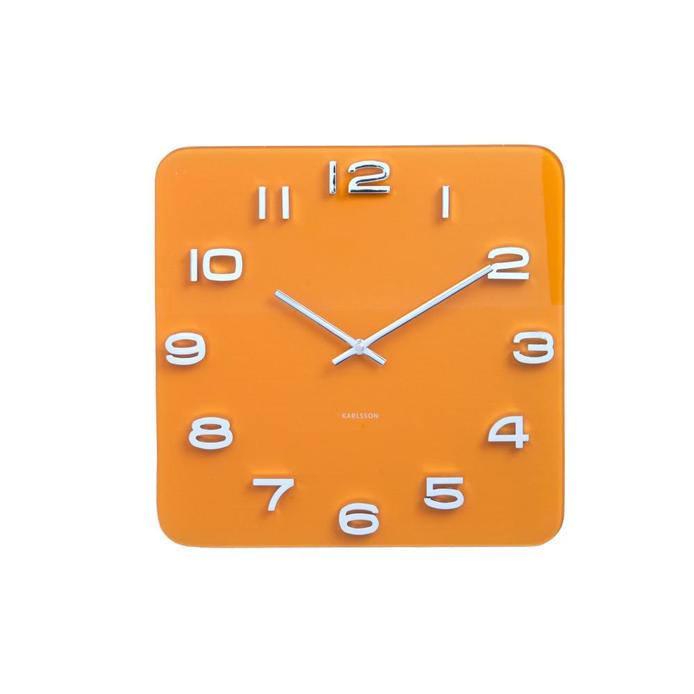 Oranžové hodiny Present Time Saffron