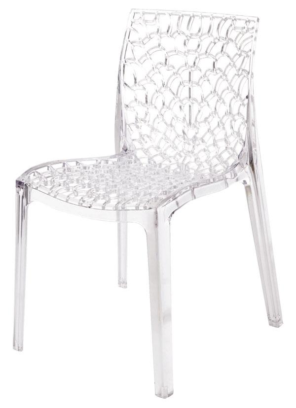 GRUVYE transparentná stolička