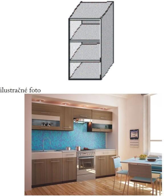 Kuchynská skrinka policová, wenge, JURA NEW I GO-20