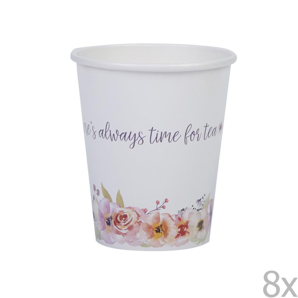 Sada 8 papierových pohárikov Neviti Timefor Tea
