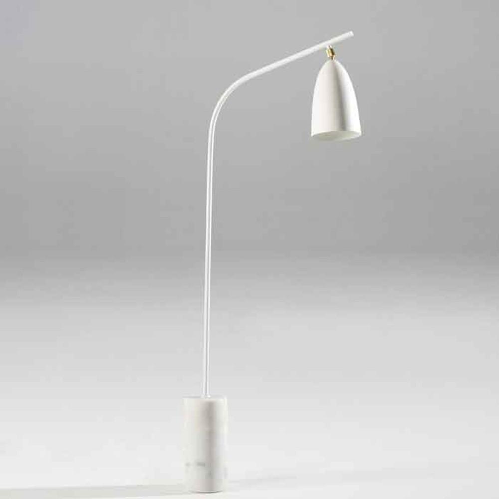Biela voľne stojacia lampa Thai Natura Marble