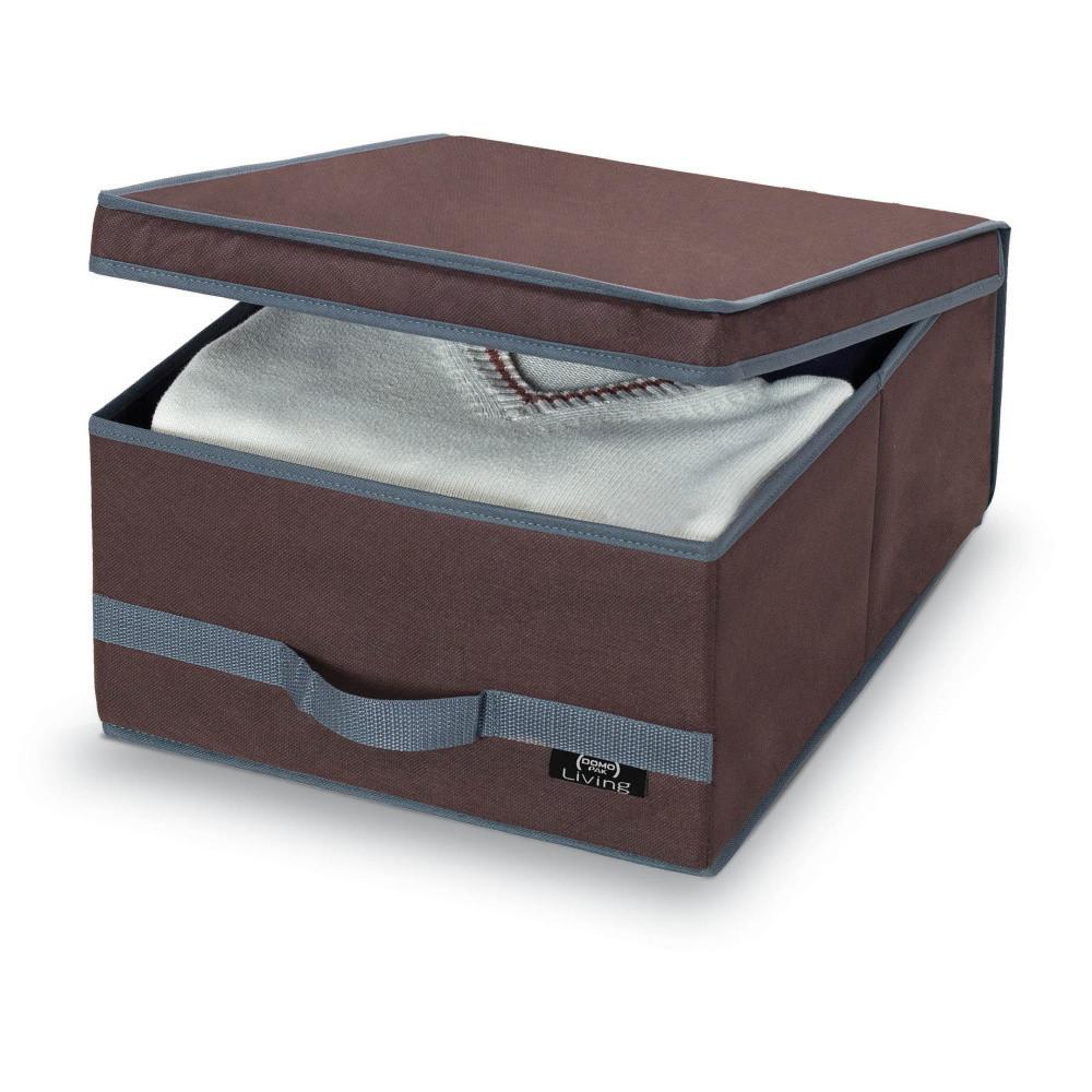Hnedý úložný box Domopak Living, stredná