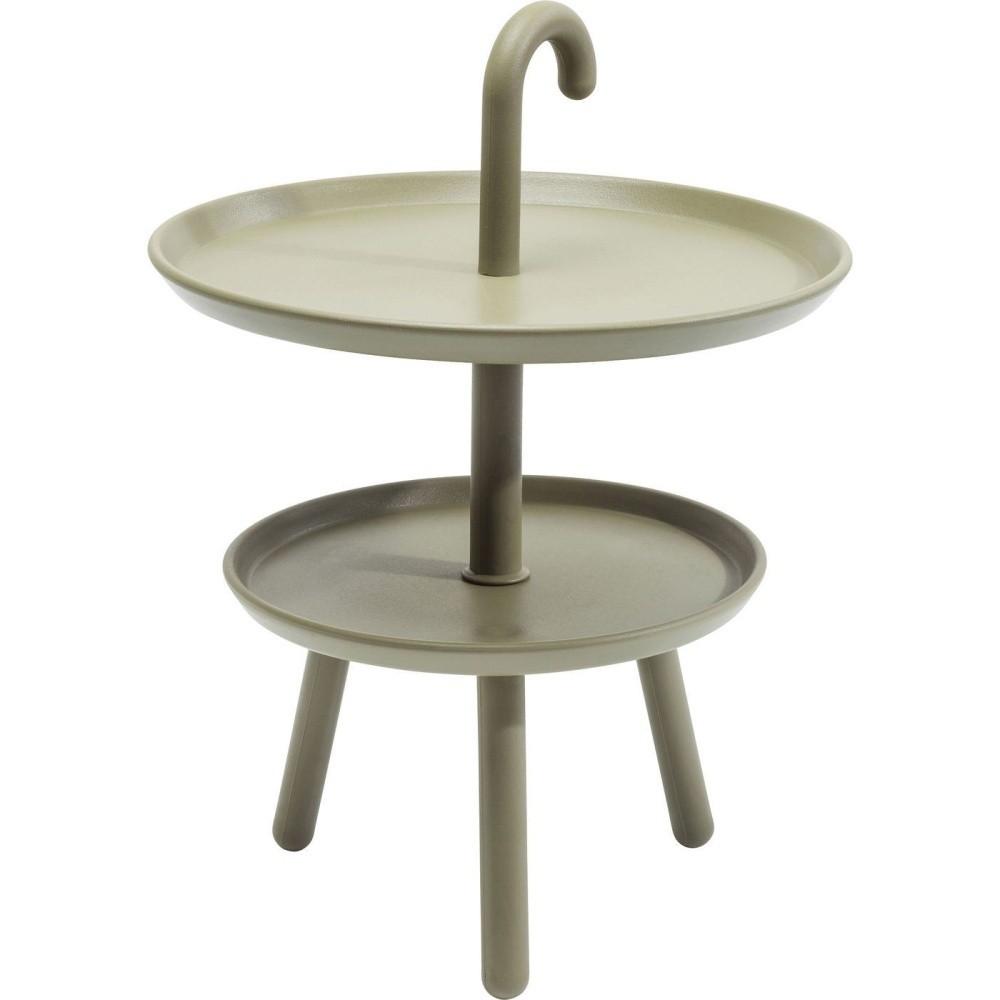 Zelený odkladací stolík vhodný do exteriéru Kare Design Jacky