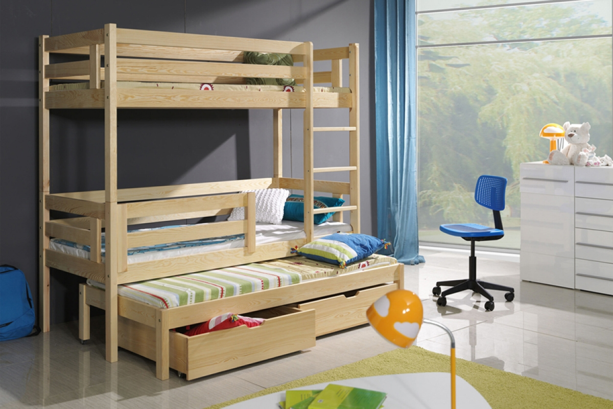 Nabytok-Bogart 3-osobová posteľ zosia