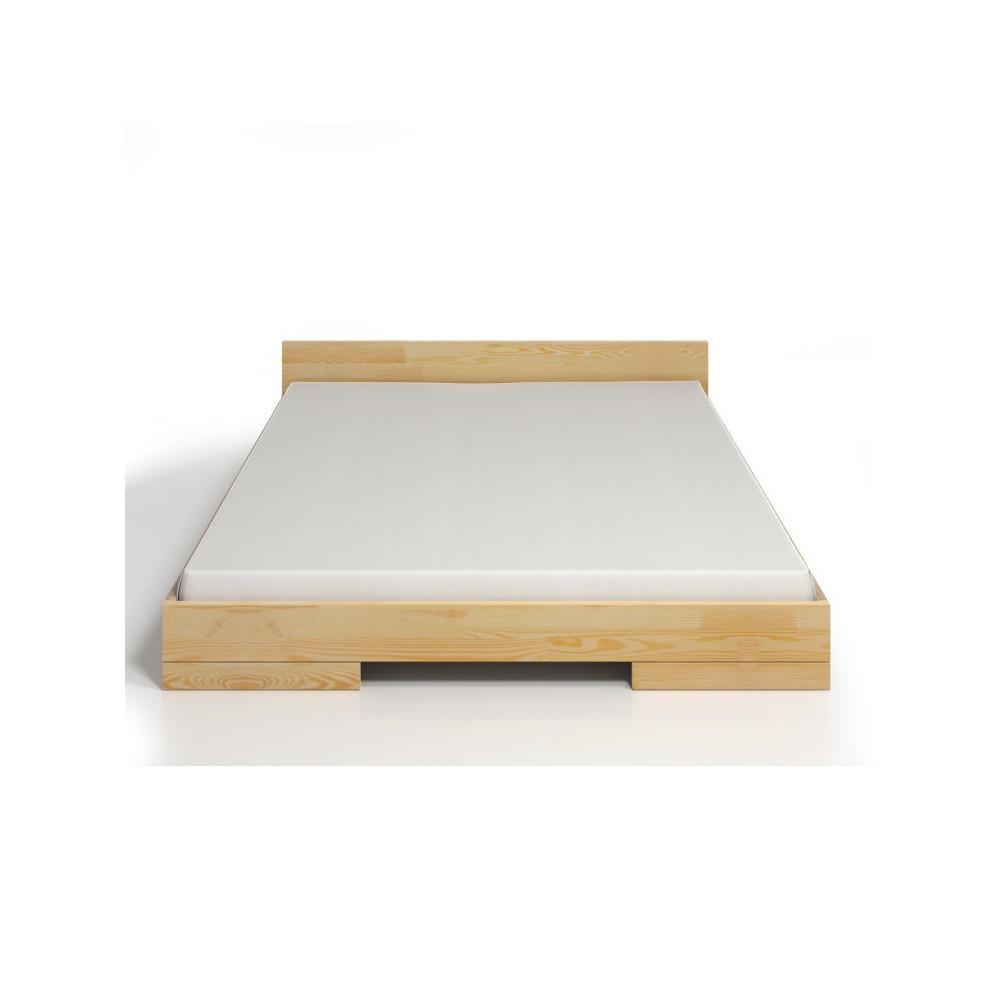 Dvojlôžková posteľ z borovicového dreva SKANDICA Spectrum, 200x200cm