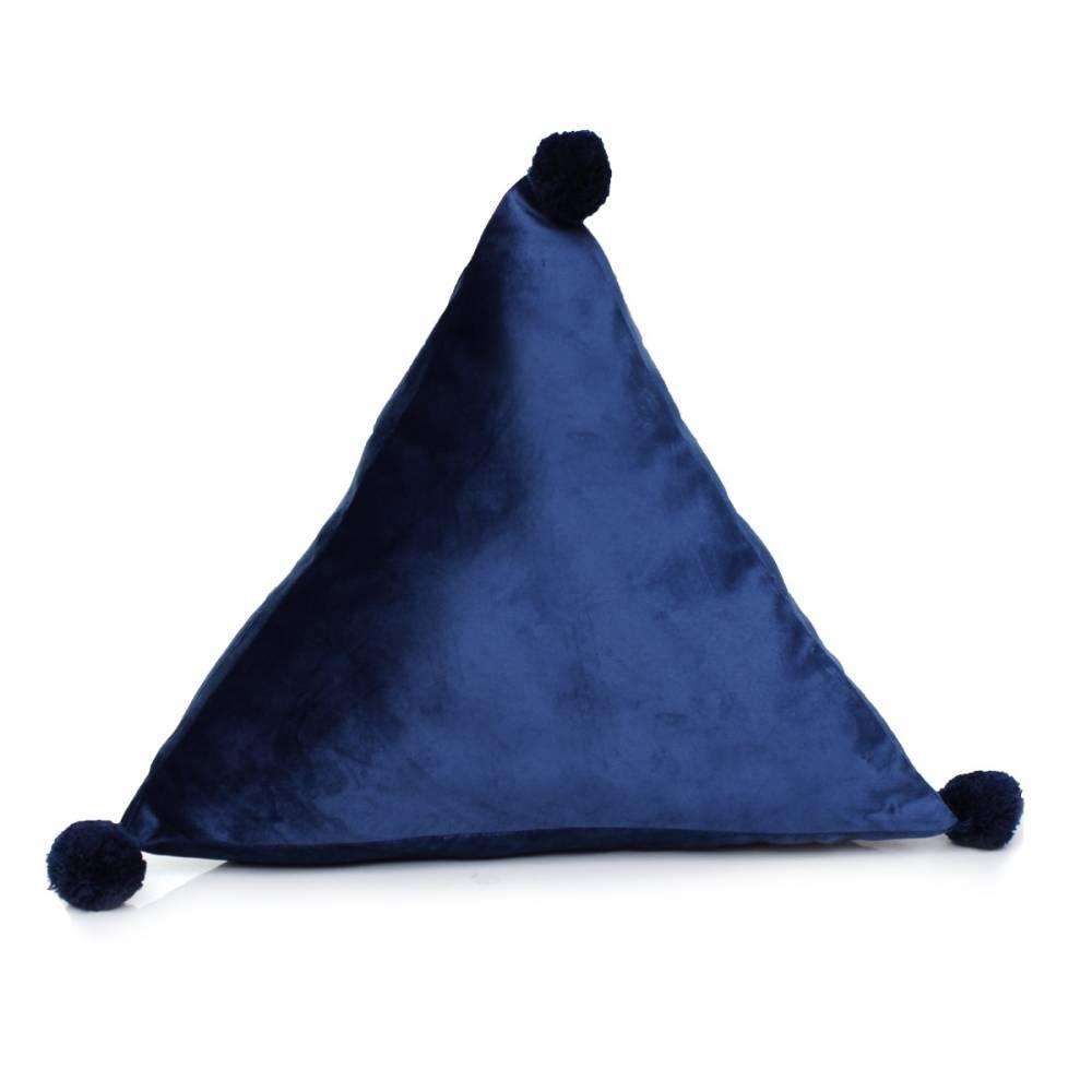 Domarex Vankúš pyramída Trevi Velvet modrá, 40 x 40 x 40 cm