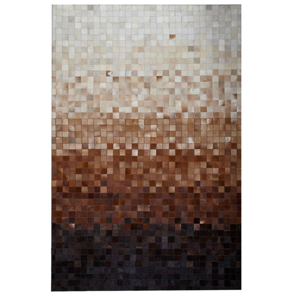 Koberec z pravej kože Sao Paulo Brown, 140x200 cm