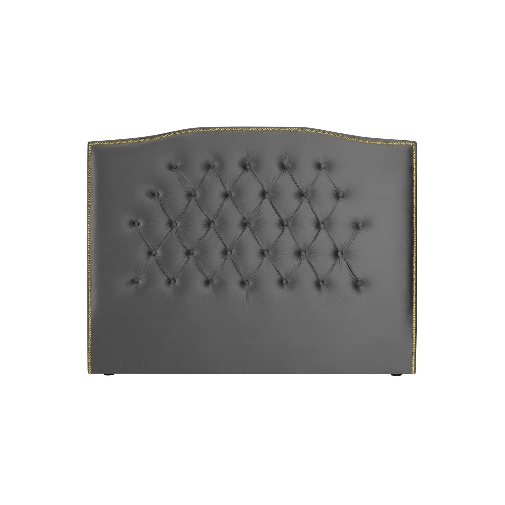 Striebornosivé čelo postele Mazzini Sofas Anette, 200 × 120 cm