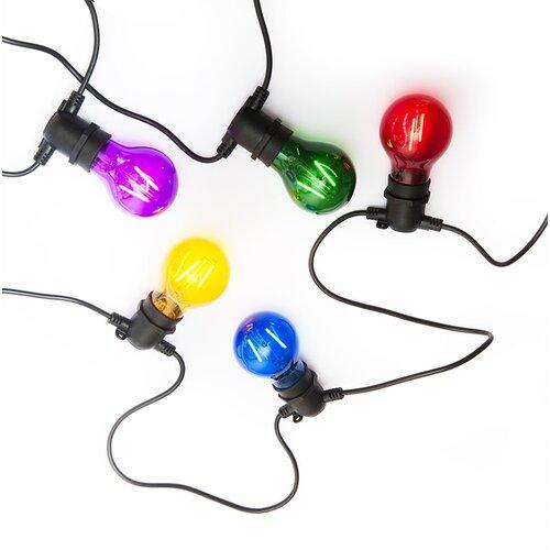 Exihand LO-3455 párty reťaz s 10 farebnými žiarovkami, 8,4 m