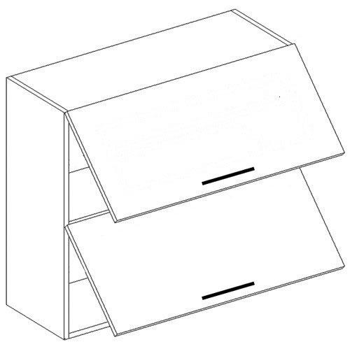 CORA výklopná skrinka W60OK/plné+plné dvierka, OLIVA/ČOKO