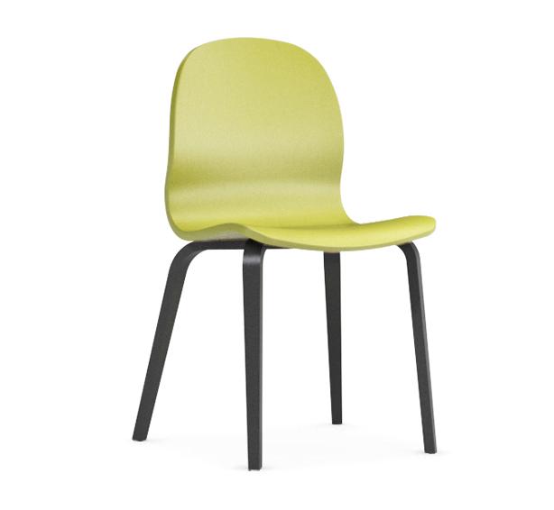 Jedálenská stolička Possi zelená   Farba: zelená/šedý wolfram