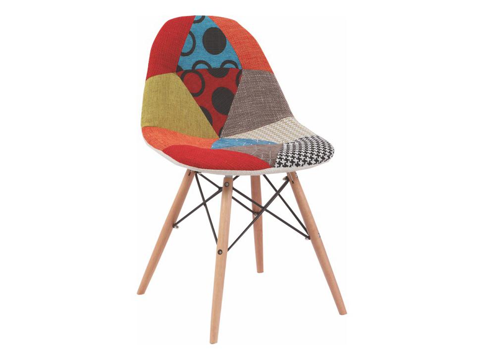 Jedálenská stolička Candie (vzor patchwork kosoštvorce)