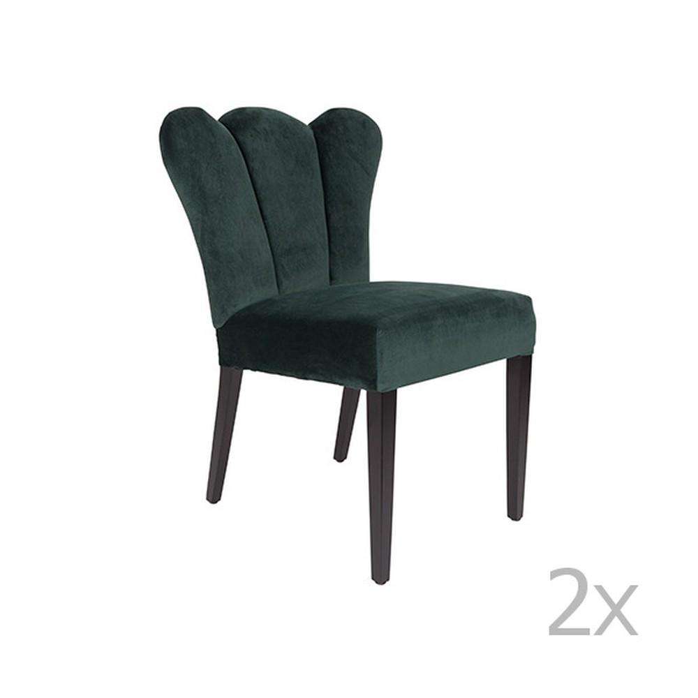 Sada 2 zelených stoličiek White Label Faye