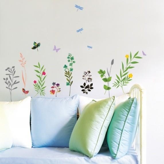 Samolepka Fanastick Grass and Butterflies