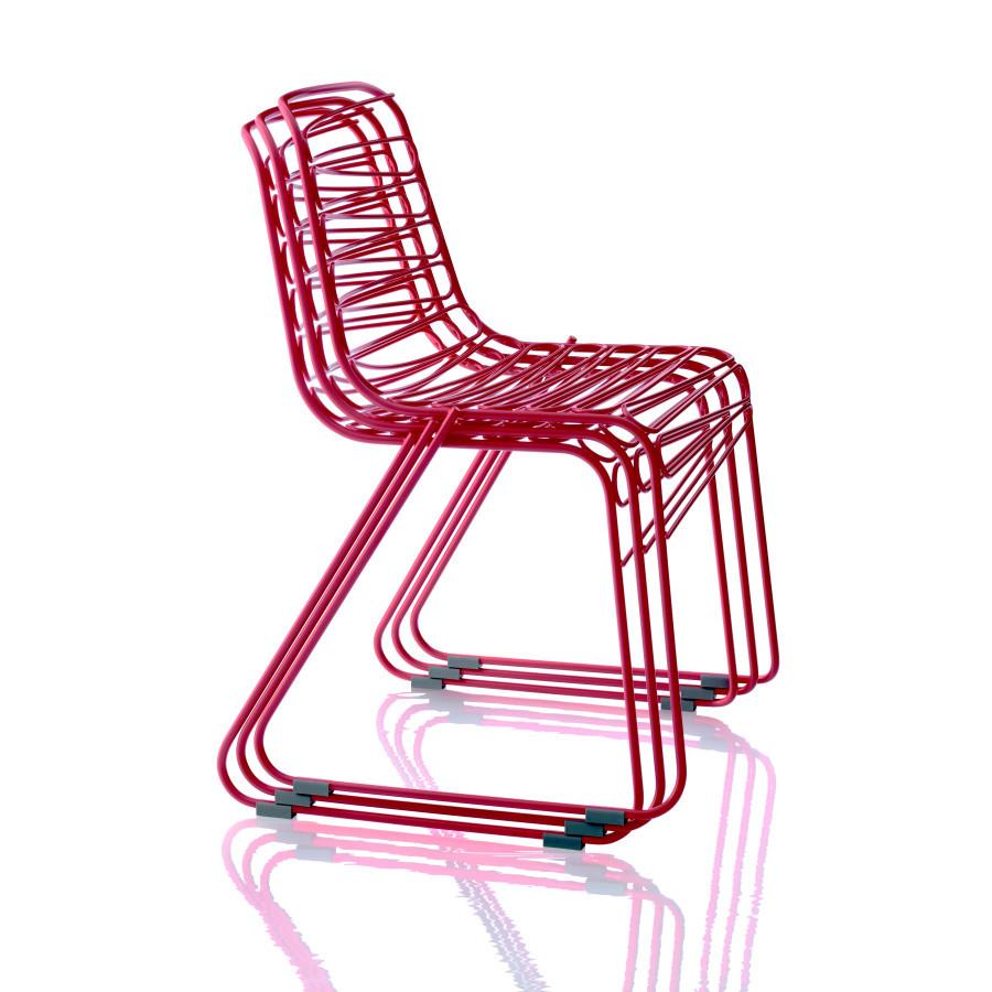 Červená stolička Magis Flux