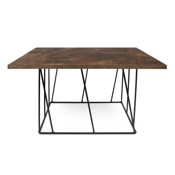 Hnedý konferenčný stolík s čiernymi nohami TemaHome Helix, 75cm
