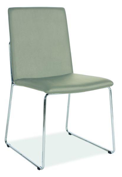 SIGNAL H-412 jedálenská stolička - chróm / sivá