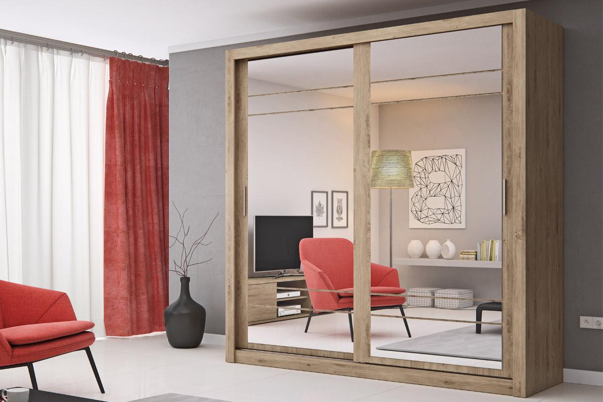 ARTIE VIII šatníková skriňa so zrkadlom