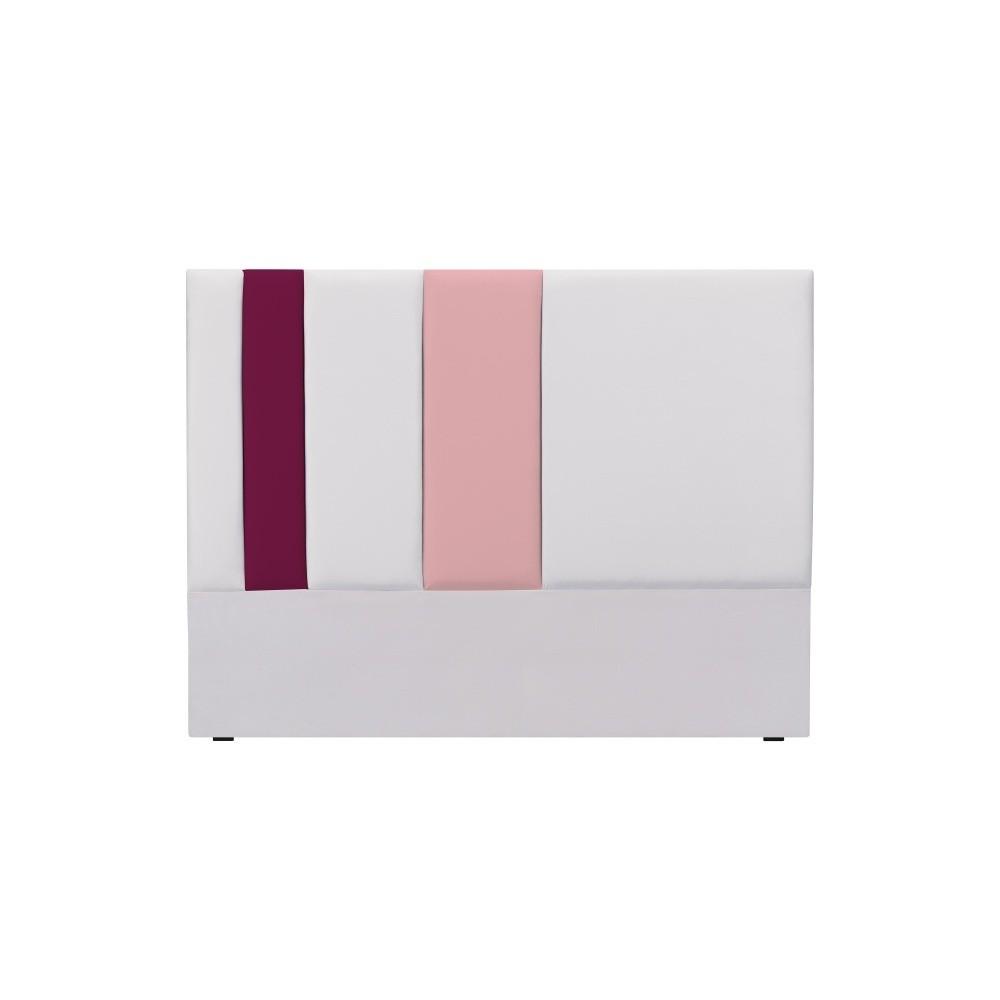 Sivo-ružové čelo postele Mazzini Sofas Dahlia, 120 × 140 cm